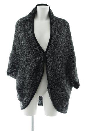 Opus Cardigan a maglia grossa nero-bianco Motivo a maglia leggera stile casual