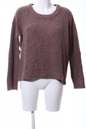 Opus Coarse Knitted Sweater brown flecked casual look