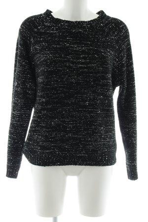 Opus Grobstrickpullover schwarz-silberfarben meliert Casual-Look