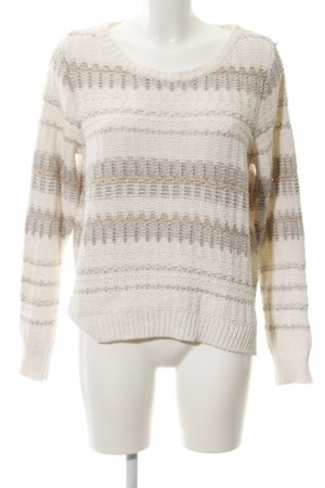 Opus Grobstrickpullover Streifenmuster Casual-Look