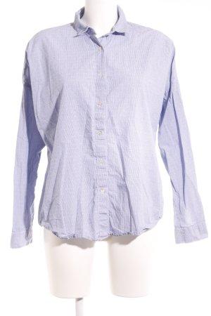 Opus Camicia blusa blu fiordaliso-bianco motivo a righe stile casual