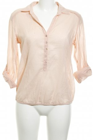 Opus Hemd-Bluse weiß-apricot Punktemuster Casual-Look