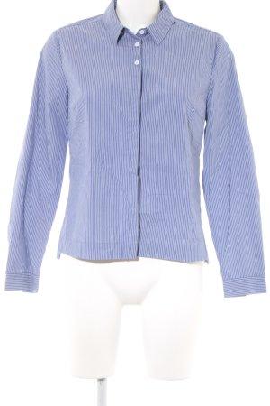 Opus Hemd-Bluse weiß-kornblumenblau Streifenmuster Business-Look