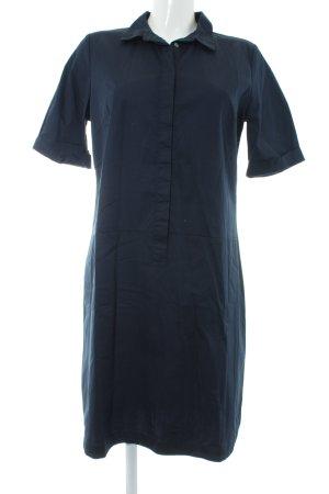 Opus Hemdblousejurk donkerblauw elegant