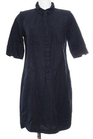 Opus Hemdblusenkleid dunkelblau schlichter Stil