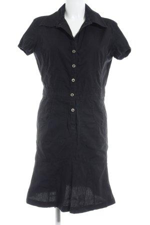 Opus Hemdblusenkleid schwarz schlichter Stil