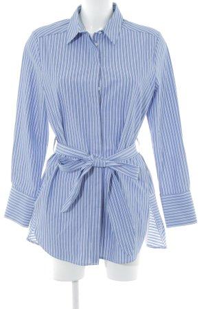 Opus Hemdblusenkleid weiß-stahlblau Streifenmuster Business-Look