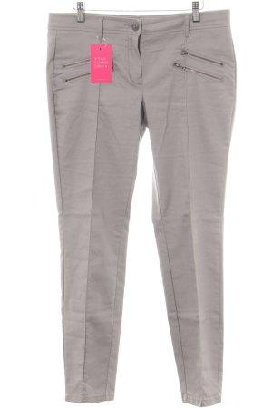 Opus Pantalón de cintura alta gris claro look casual