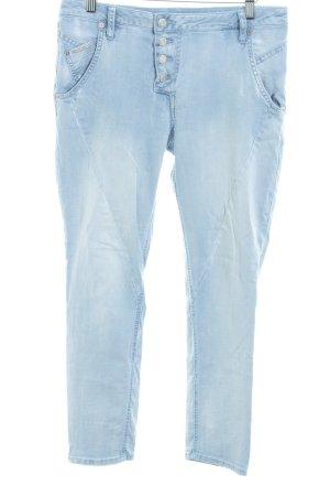 Opus Jeans a vita alta azzurro stile stravagante