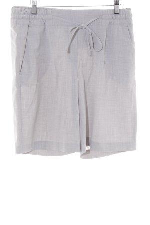 Opus Pantaloncino a vita alta grigio chiaro elegante