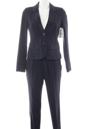 Opus Tailleur-pantalon bleu foncé-blanc style décontracté