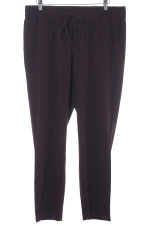 Opus Pantalone a vita bassa bordeaux-rosso mora stile casual
