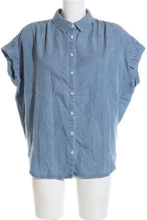 Opus Denim Blouse azure casual look