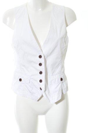 Opus Denim Vest white casual look