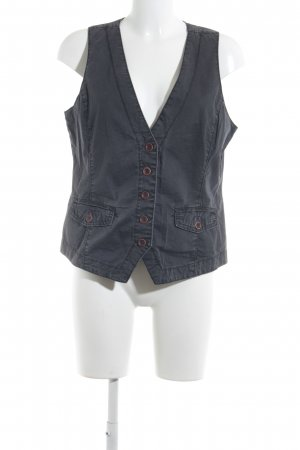 Opus Denim Vest anthracite country style