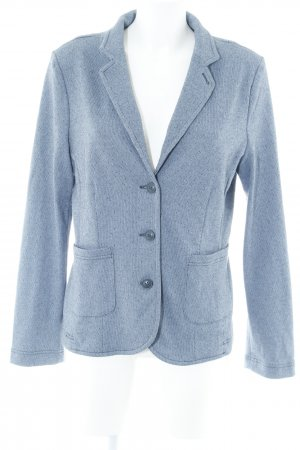 Opus Jerseyblazer blassblau-dunkelblau Punktemuster Business-Look