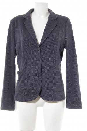 Opus Blazer in jersey blu scuro-azzurro motivo a zig-zag stile casual
