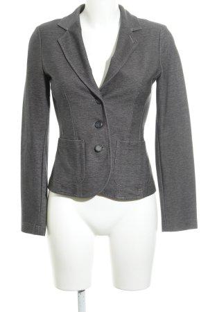 Opus Jersey Blazer gris oscuro moteado estilo sencillo