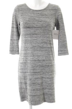 Opus Abito jersey grigio scuro-grigio chiaro puntinato stile da moda di strada