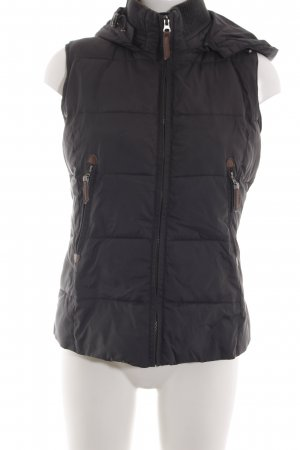 Opus Hooded Vest brown casual look
