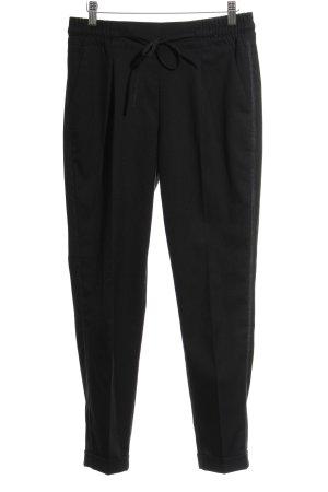 Opus Peg Top Trousers black glen check pattern street-fashion look