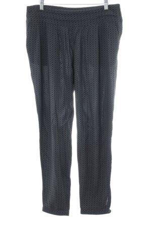 Opus Pantalón de pinza alto negro-gris estampado con diseño abstracto