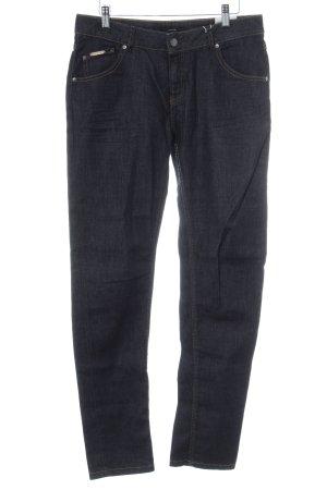 Opus Jeans carotte bleu foncé style décontracté