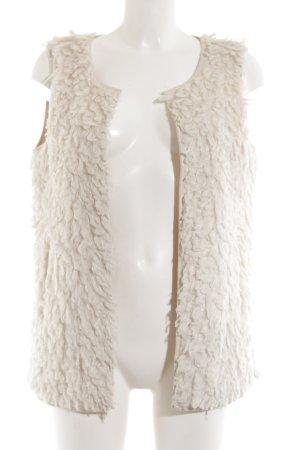 Opus Fake Fur Vest natural white extravagant style