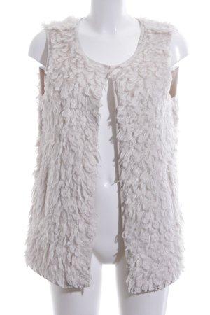 Opus Fake Fur Vest natural white-oatmeal fluffy