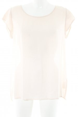 Opus Kurzarm-Bluse nude-weiß Punktemuster Casual-Look