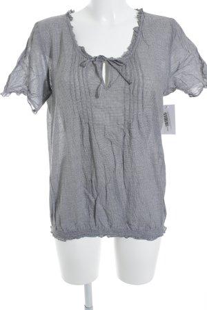 Opus Camicetta a maniche corte bianco-grigio scuro Stampa suggestiva