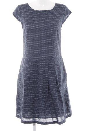 Opus Kurzarmkleid blassblau-dunkelblau Punktemuster schlichter Stil
