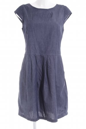 Opus Kurzarmkleid graublau Jeans-Optik