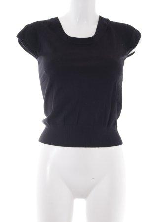 Opus Kurzarmpullover schwarz schlichter Stil