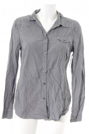 Opus Langarm-Bluse grau Business-Look