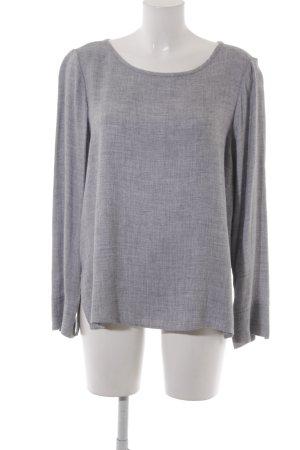 Opus Camicetta a maniche lunghe grigio chiaro puntinato stile casual
