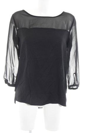 Opus Langarm-Bluse schwarz Casual-Look
