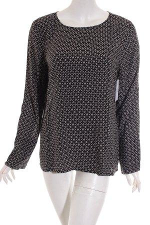 Opus Langarm-Bluse weiß-schwarz Casual-Look