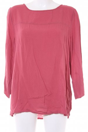 Opus Langarm-Bluse ziegelrot Punktemuster Casual-Look