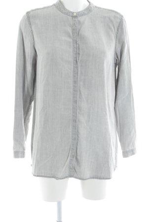 Opus Shirt met lange mouwen lichtgrijs casual uitstraling
