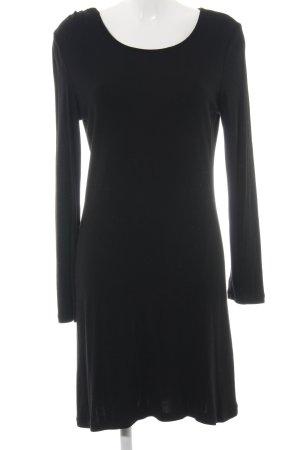 Opus Langarmkleid schwarz schlichter Stil
