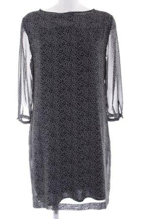 Opus Langarmkleid schwarz-creme Punktemuster Casual-Look