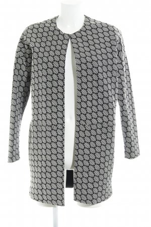 Opus Veste longue noir-blanc cassé motif abstrait style décontracté
