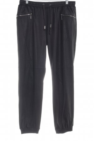 Opus Leather Trousers black casual look