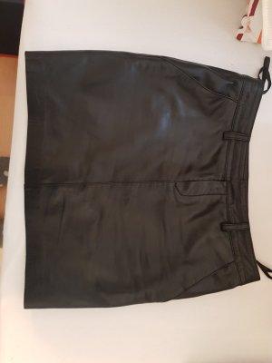 Opus Falda de cuero negro