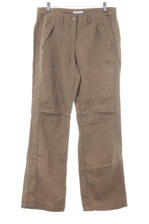 Opus Pantalone di lino color cammello stile da moda di strada