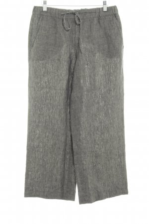 Opus Linen Pants dark grey flecked simple style