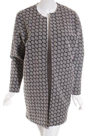 Opus Long-Blazer weiß-schwarz Street-Fashion-Look