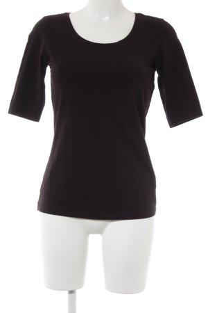 Opus Longshirt braunviolett schlichter Stil