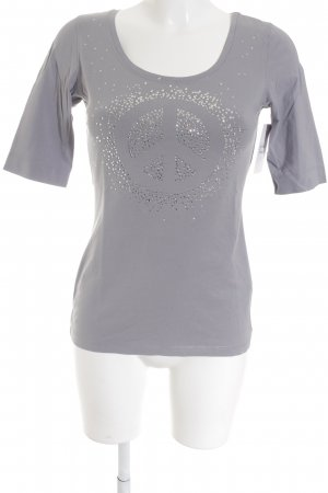 Opus Manga larga gris look casual